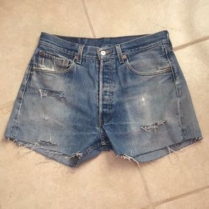 Levi's Shorts - 501 Levi's with distressing